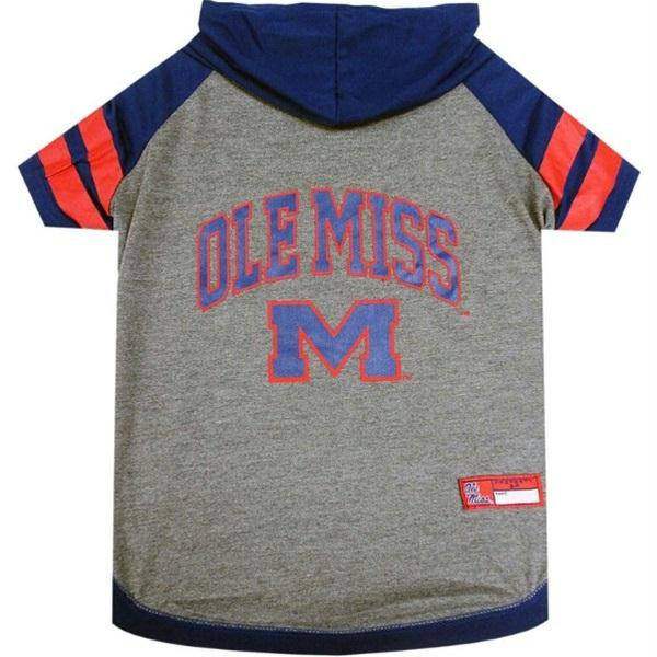 Ole Miss Rebels Pet Hoodie T-Shirt - staygoldendoodle.com