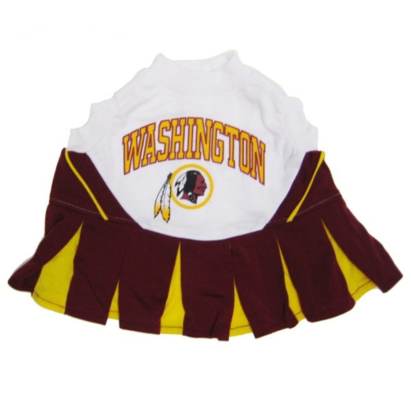 Washington Redskins Cheerleader Dog Dress - staygoldendoodle.com