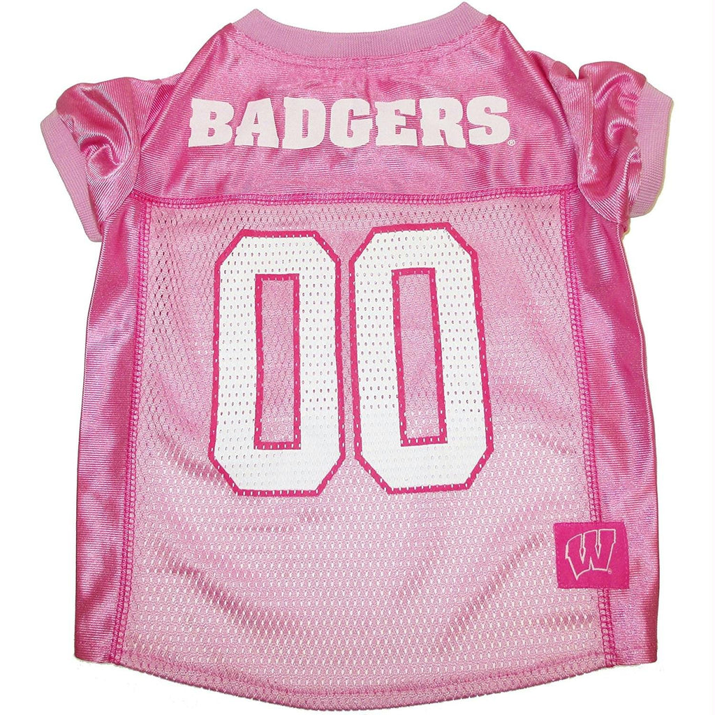 Wisconsin Badgers Pink Pet Jersey - staygoldendoodle.com