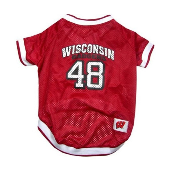 Wisconsin Badgers Dog Jersey - staygoldendoodle.com