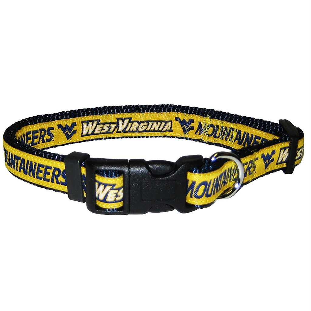 West Virginia Mountaineers Pet Collar by Pets First - staygoldendoodle.com