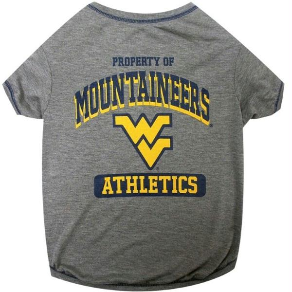 West Virginia Mountaineers Pet Tee Shirt - staygoldendoodle.com