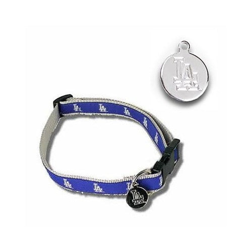 Los Angeles Dodgers Dog Collar Alternate Design - staygoldendoodle.com