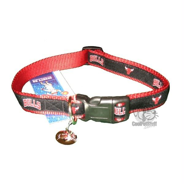 Chicago Bulls Alternate Style Dog Collar - staygoldendoodle.com