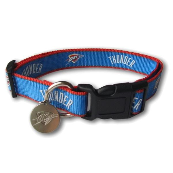 Oklahoma City Thunder Reflective Dog Collar - staygoldendoodle.com