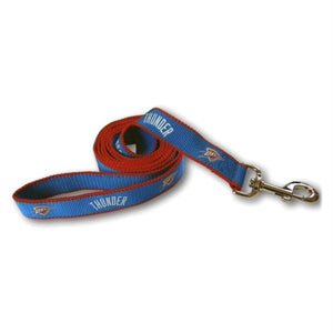 Oklahoma City Thunder Reflective Dog Leash - staygoldendoodle.com