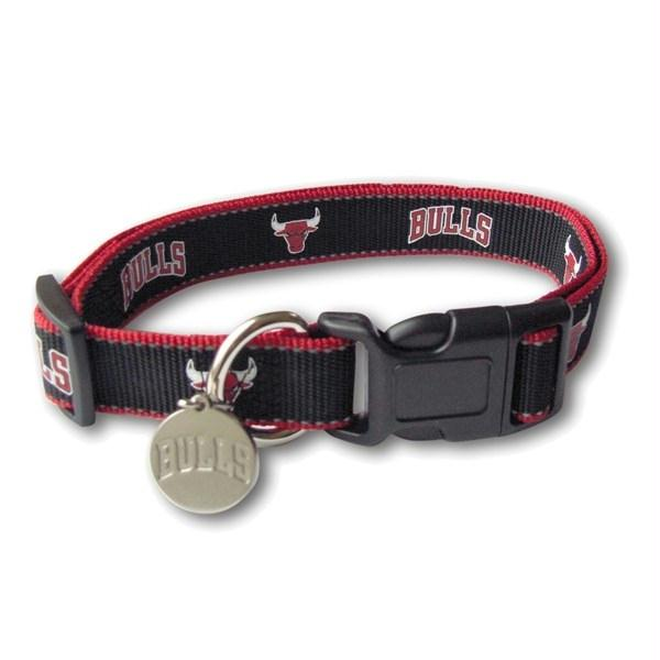 Chicago Bulls Reflective Dog Collar - staygoldendoodle.com
