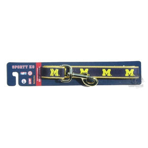 Michigan Wolverines Reflective Dog Leash - staygoldendoodle.com