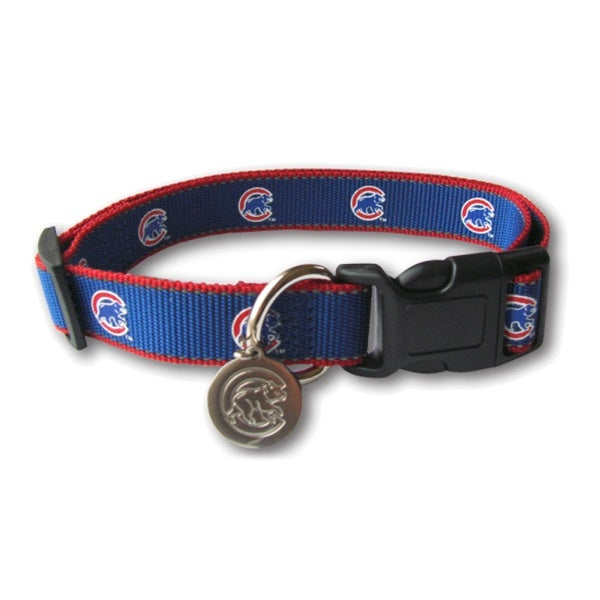 Chicago Cubs Reflective Dog Collar