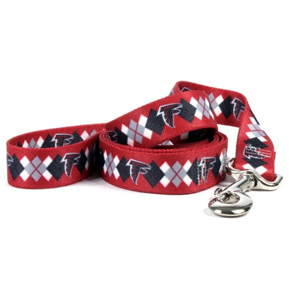 Atlanta Falcons Argyle Nylon Leash - staygoldendoodle.com