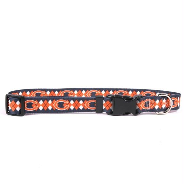 Chicago Bears Argyle Nylon Collar - staygoldendoodle.com