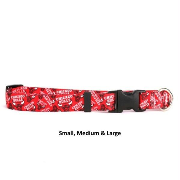 Chicago Bulls Nylon Collar - staygoldendoodle.com