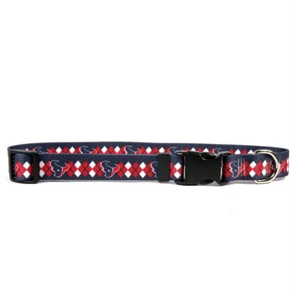 Houston Texans Argyle Nylon Collar - staygoldendoodle.com