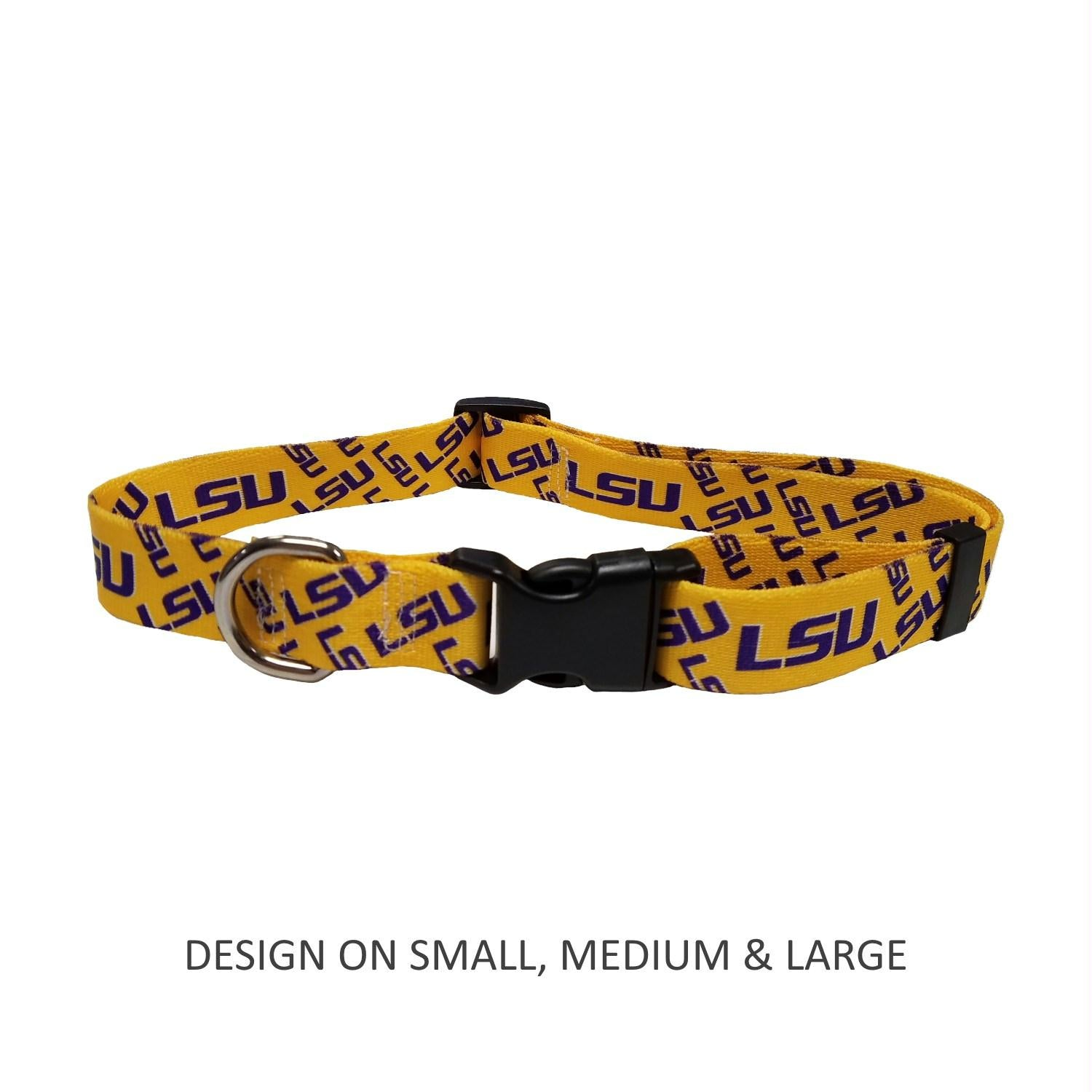 LSU Tigers Nylon Collar - staygoldendoodle.com