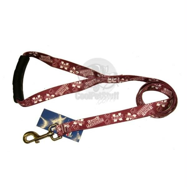 Mississippi State Bulldogs EZ Grip Nylon Leash - staygoldendoodle.com