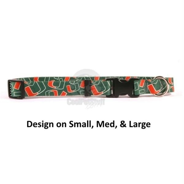 Miami Hurricanes Nylon Collar - staygoldendoodle.com