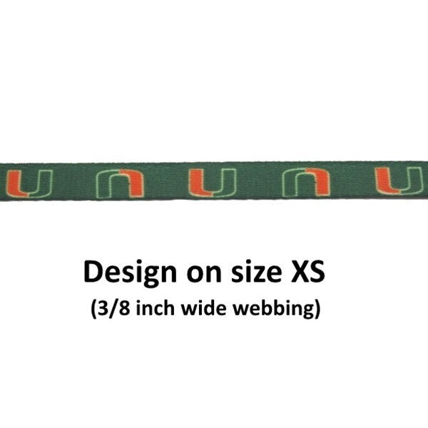 Miami Hurricanes Nylon Leash - staygoldendoodle.com