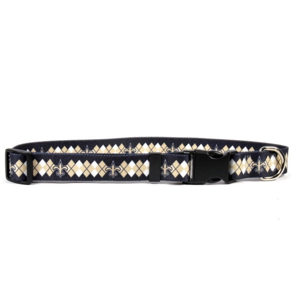 New Orleans Saints Argyle Nylon Collar - staygoldendoodle.com