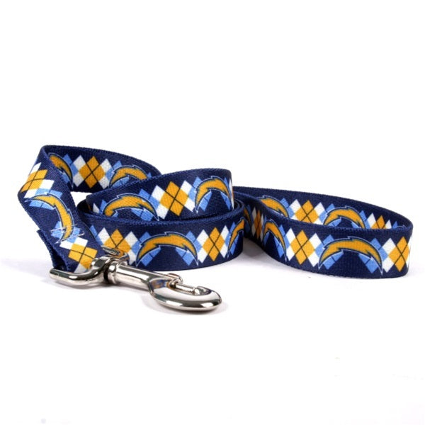 San Diego Chargers Argyle Nylon Leash - staygoldendoodle.com