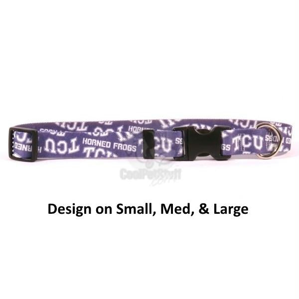 TCU Horned Frogs Nylon Collar - staygoldendoodle.com