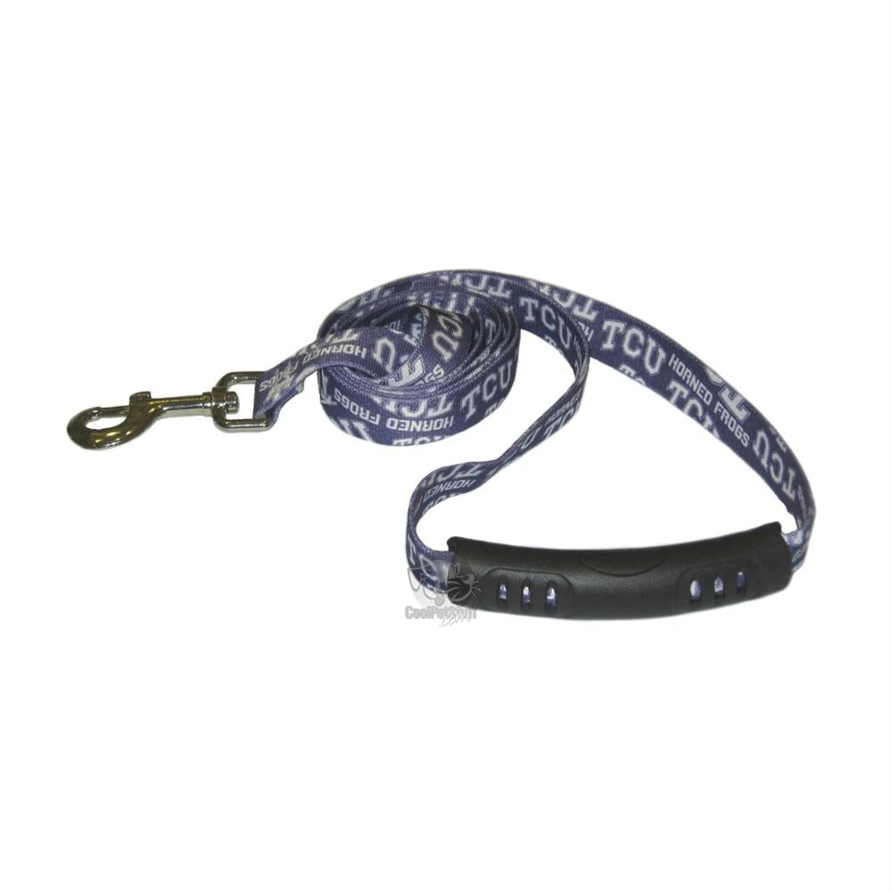 TCU Horned Frogs EZ Grip Nylon Leash - staygoldendoodle.com