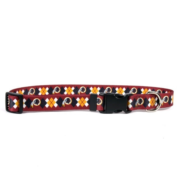 Washington Redskins Argyle Nylon Collar - staygoldendoodle.com