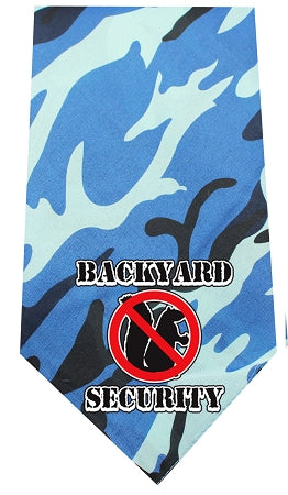 Backyard Security Screen Print Bandana - staygoldendoodle.com