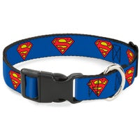 Superman Shield Blue Pet Collar - staygoldendoodle.com