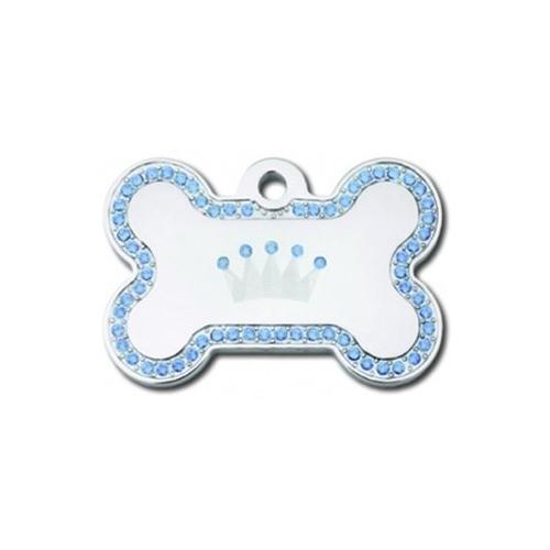 Swarovski Crystal Crown Bone ID Tag