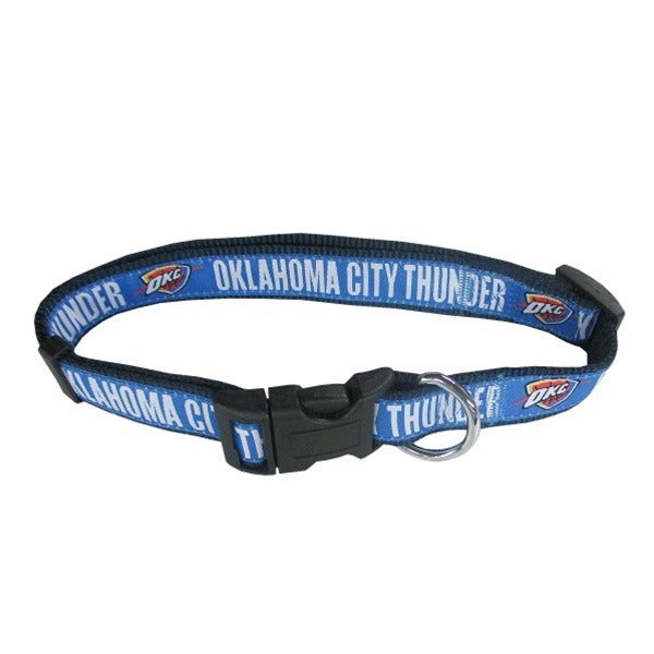 Oklahoma City Thunder Pet Collar by Pets First - staygoldendoodle.com