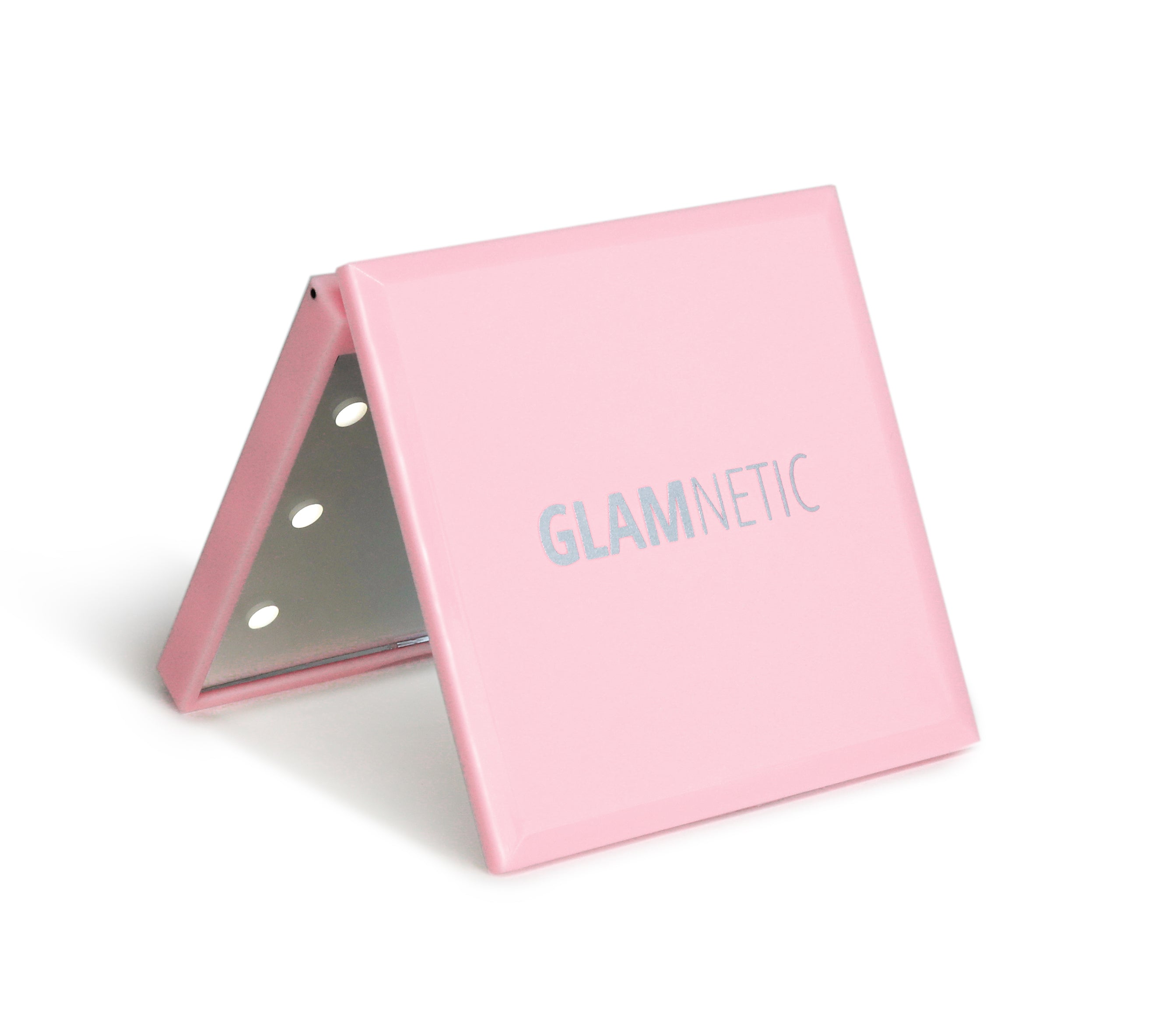 Pink Led Compact Mirror