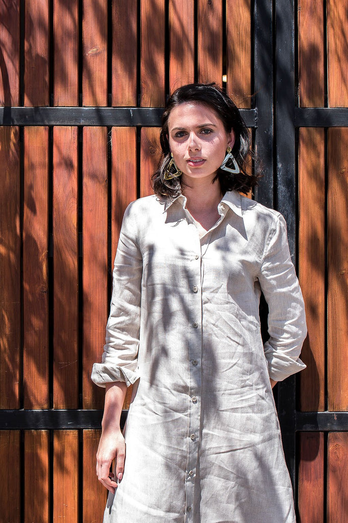Hemp Shirt Dress