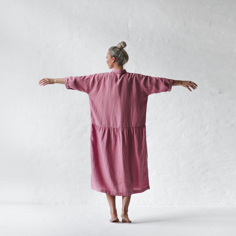 Oversized Organic Linen Dress - 4 colours - one size