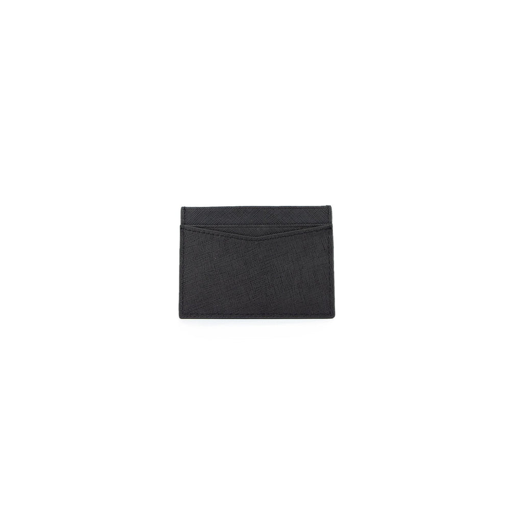 Personalised Card Holder - Black Saffiano Leather