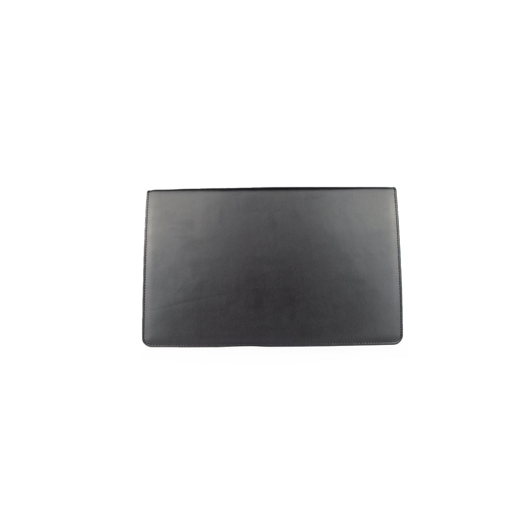 Personalised Envelope Clutch Bag - Black with Nude Smooth Leather