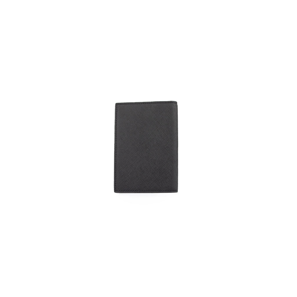 Personalised Passport Cover - Black Saffiano Leather