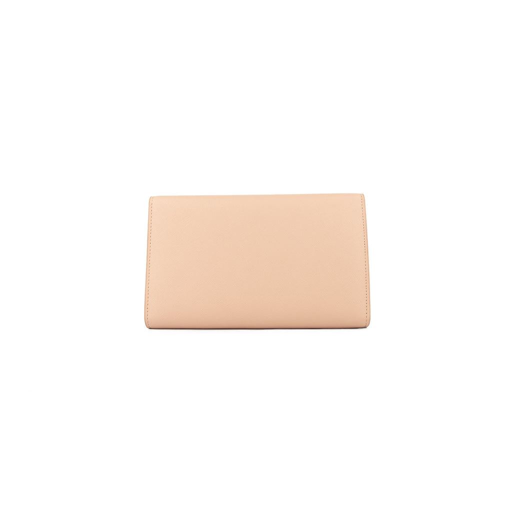 Personalised Wallet Clutch - Nude Saffiano Leather