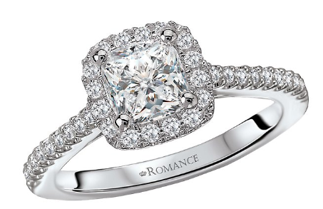 Romance Semi Mount Ring 117488-100K