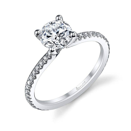 S1093 ADORLEE - ROUND SOLITAIRE ENGAGEMENT RING