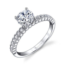 Load image into Gallery viewer, S1510 ALBERTINE - MODERN SOLITAIRE ENGAGEMENT RING