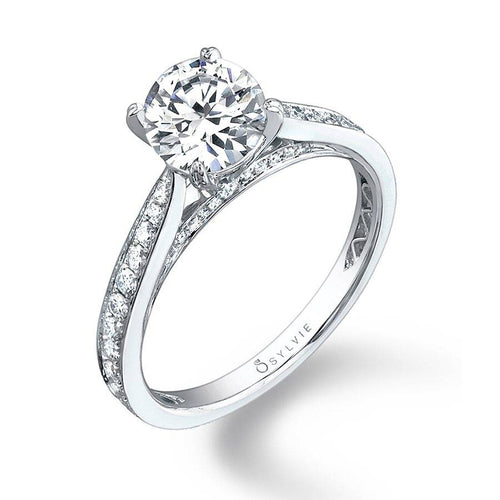 SY069 ALLY - MODERN SOLITAIRE ENGAGEMENT RING