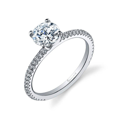 SY131 JEANA - CLASSIC ROUND SOLITAIRE ENGAGEMENT RING
