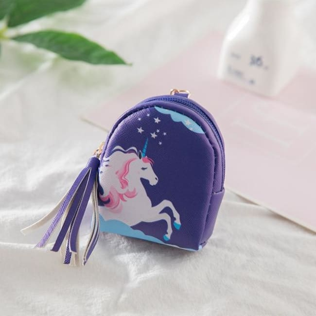 3Pcs Mini Cartoon Unicorn Bag/change Purse/keychain - 3Pcs Unicorn 009 - Luggage & Bags
