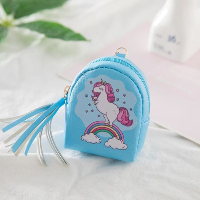 3Pcs Mini Cartoon Unicorn Bag/change Purse/keychain - 3Pcs Unicorn 010 - Luggage & Bags
