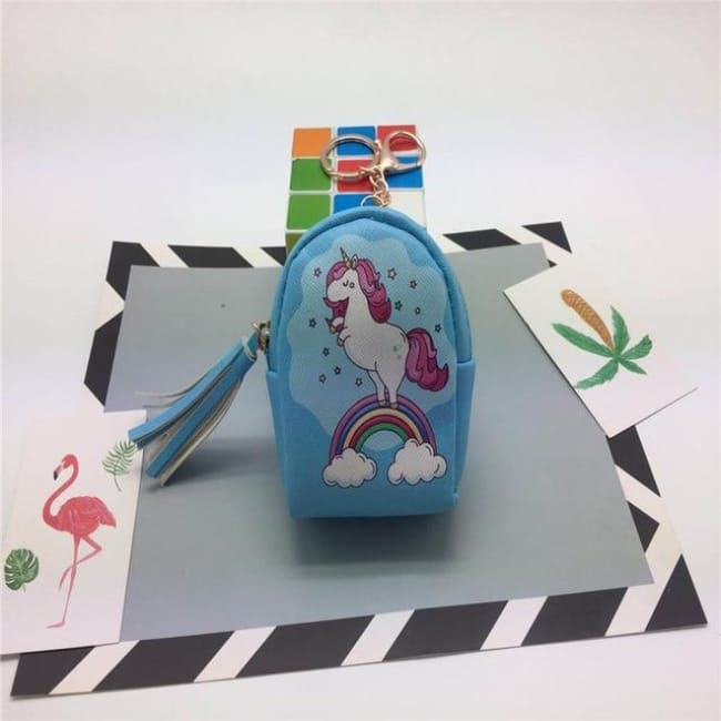 3Pcs Mini Cartoon Unicorn Bag/change Purse/keychain - 3Pcs Unicorn 020 - Luggage & Bags