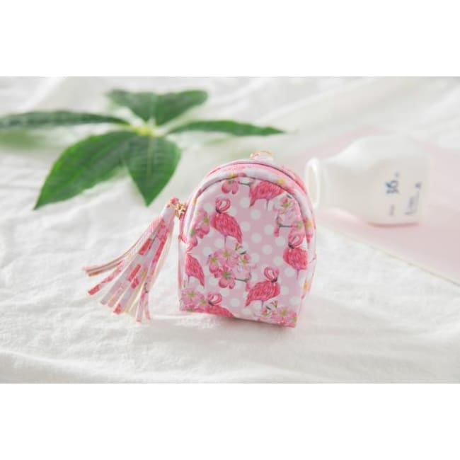 3Pcs Mini Cartoon Unicorn Bag/change Purse/keychain - 3Pcs Flamingo 014 - Luggage & Bags