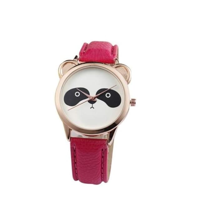 Adorable Panda Watch - Red - Watches