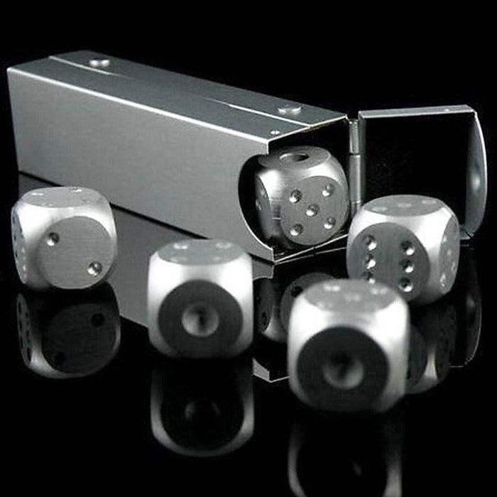 Amazing 5 Pieces Metal Dice - Sports & Entertainment