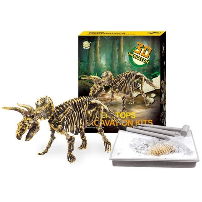 Amazing Museum-Quality 3D T-Rex Skeleton Model - Triceratops - Toys & Hobbies