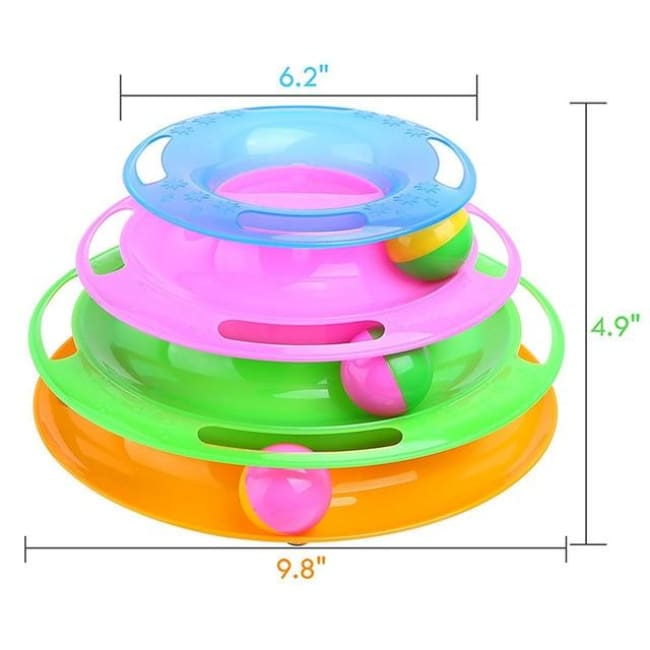 Amuzement Crazy Ball Disk Cat Toys - Hcp004A / China - Pets